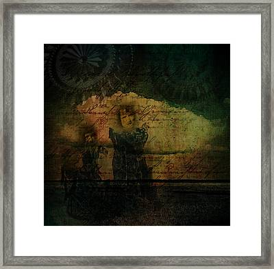 Framed Print featuring the digital art Sisters At The Shore by Delight Worthyn