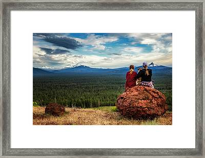 Framed Print featuring the photograph Sisters by Cat Connor