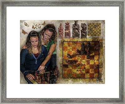 Sisters - Checkmate In 2 Framed Print by Jim Ziemer