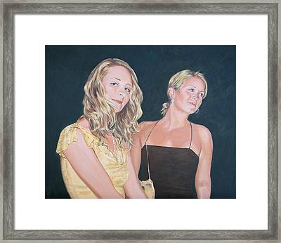Sisters Framed Print by Connie Schaertl
