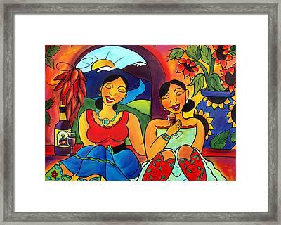 Sisters - Hermanas Framed Print