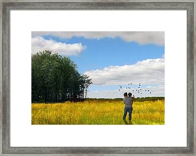 Sisters In The Field - Limited Edition Framed Print