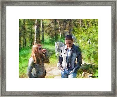 Sisters Framed Print by Jeff Kolker