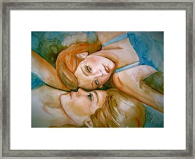 Sisters Framed Print by L Lauter