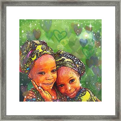 Sisters Love Framed Print