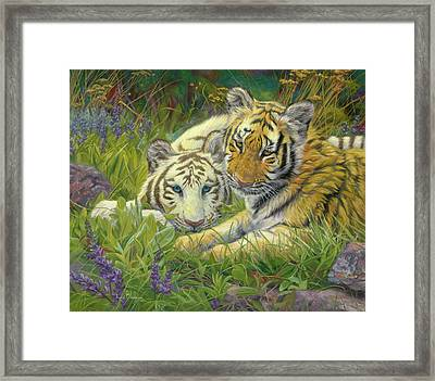 Sisters Framed Print by Lucie Bilodeau