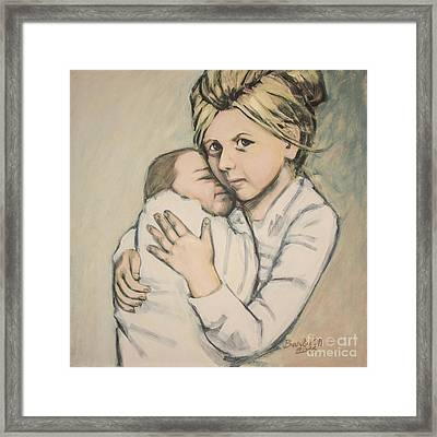 Framed Print featuring the painting Sisters by Olimpia - Hinamatsuri Barbu