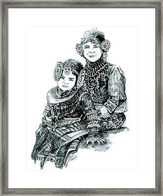 Sisters Framed Print by Ramneek Narang