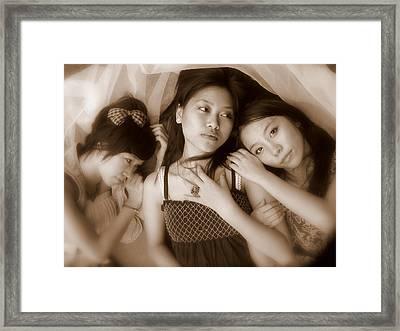 Sisters Repose 2 Framed Print by Annie