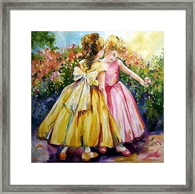 Sisters Secrets Framed Print