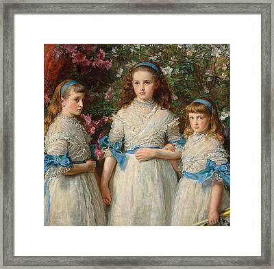 Sisters Framed Print by Sir John Everett Millais