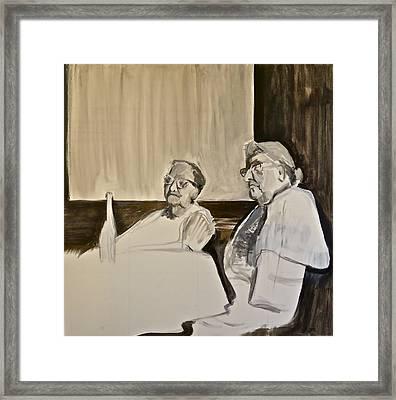 Sisters -the Argument Framed Print
