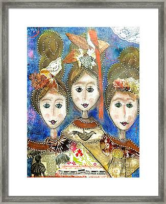 Sisters Three Framed Print