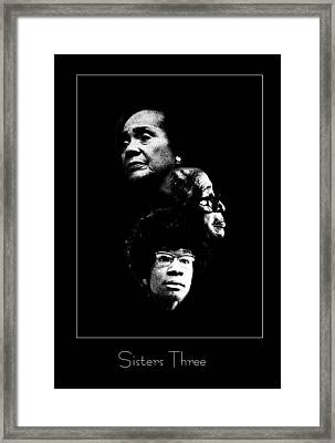 Sisters Three Framed Print by Richard Gordon