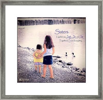 Sisters Framed Print by Tom Schmidt