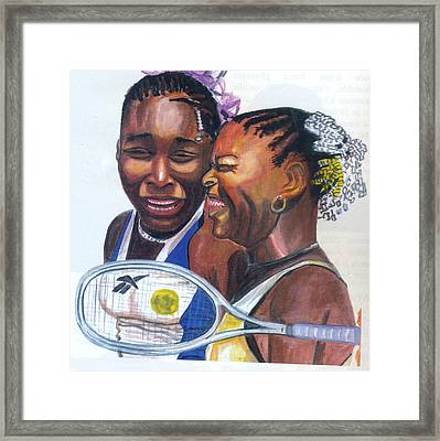 Sisters Williams Framed Print by Emmanuel Baliyanga