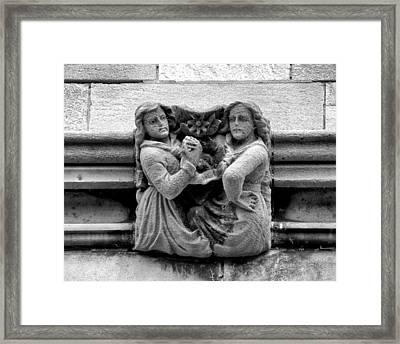 Sisters With A Cause Gargoyle Univ Of Chicago 2009 Framed Print
