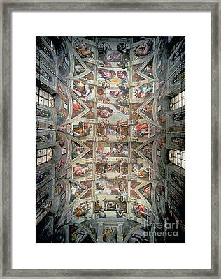 Sistine Chapel Ceiling Framed Print by Michelangelo