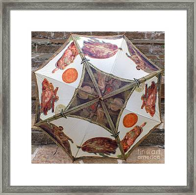 Sistine Chapel Umbrella Framed Print