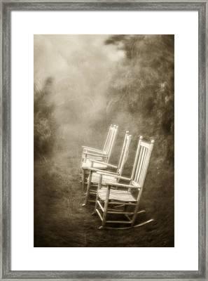 Sit A Spell-sepia Framed Print