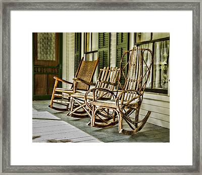Sit A Spell Framed Print by Stephen Stookey
