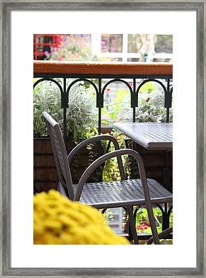 Framed Print featuring the photograph Sit A While by Laddie Halupa