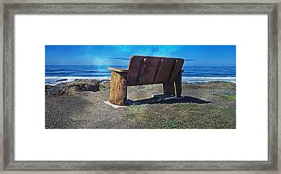 You Could Be Sitting There Framed Print