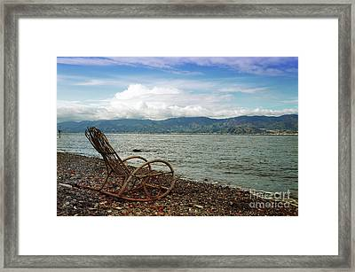 Sit Back And Enjoy Framed Print
