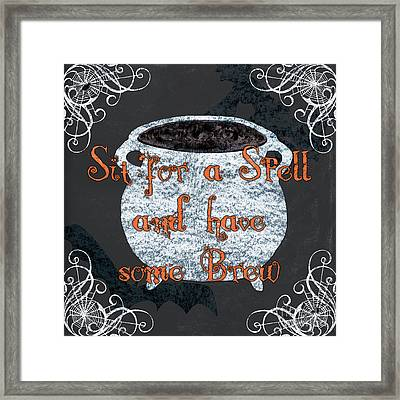 Sit For A Spell Framed Print by Debbie DeWitt