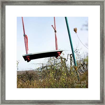 Sit Of Swing Framed Print by Bernard Jaubert