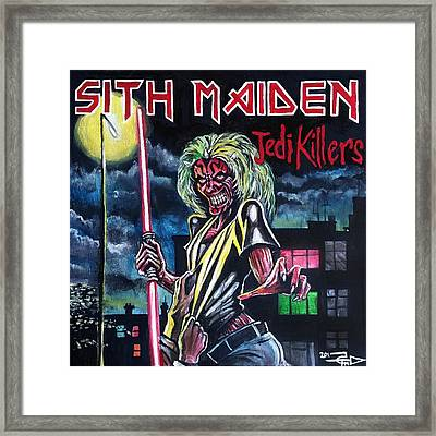 Sith Maiden Framed Print by Tom Carlton