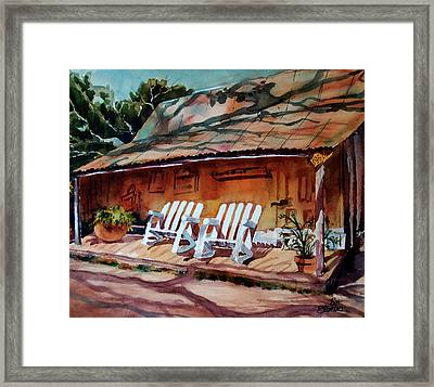 Framed Print featuring the painting Sittin' And Rockin' X 2 by Ron Stephens