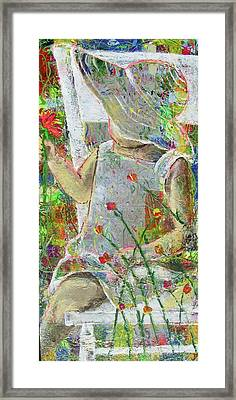 Sitting A Spell... Framed Print by Jacqueline Athmann