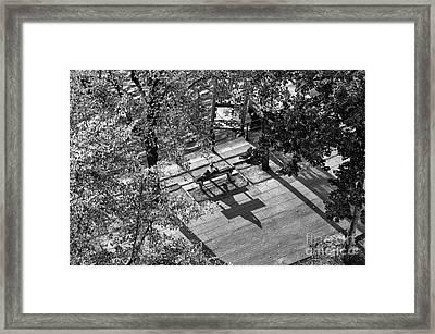 Sitting Alone In Hamburg Mono Framed Print