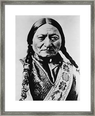 Sitting Bull 1831-1890 Lakota Sioux Framed Print by Everett