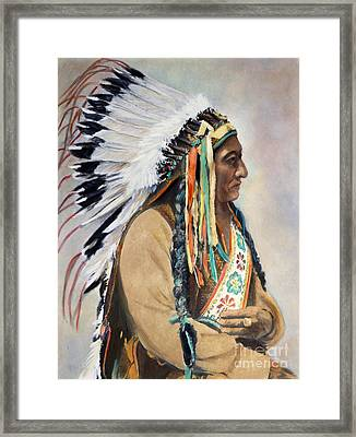 Sitting Bull (1834-1890) Framed Print by Granger