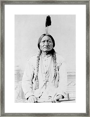 Sitting Bull, A Hunkpapa Lakota Tribal Framed Print by Stocktrek Images