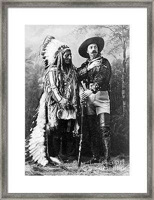 Sitting Bull And Buffalo Bill, 1885 Framed Print by Science Source