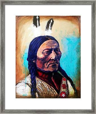 Sitting Bull Framed Print by Chris Bahn