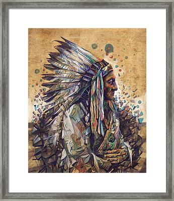 Sitting Bull Decorative Portrait 2 Framed Print