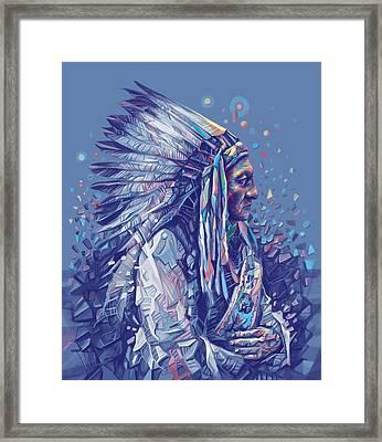 Sitting Bull Decorative Portrait Framed Print
