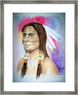 Sitting Bull Framed Print by John De Young
