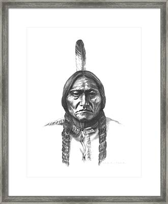 Sitting Bull Framed Print by Lee Updike