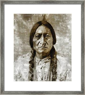 Sitting Bull Framed Print by Mary Bassett
