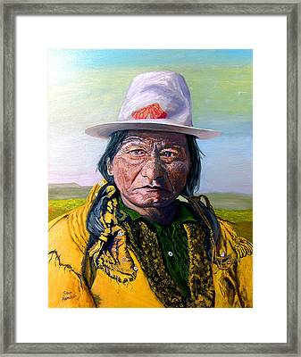 Sitting Bull Framed Print by Stan Hamilton