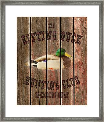 Sitting Duck Hunting Club Framed Print