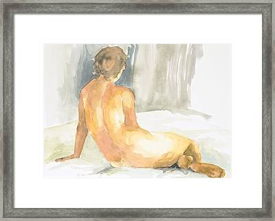 Sitting Figure Framed Print by Eugenia Picado