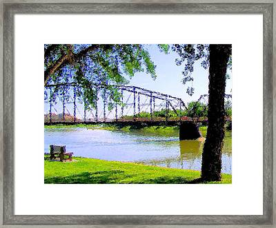Framed Print featuring the photograph Sitting In Fort Benton by Susan Kinney