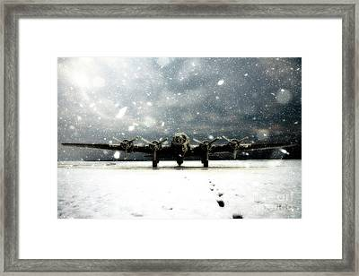 Sitting In The Snow Framed Print