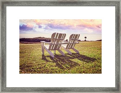 Framed Print featuring the photograph Sitting In The Sun by Debra and Dave Vanderlaan